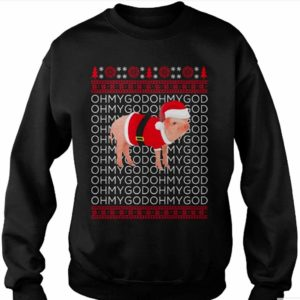 OMG Pig Xmas Christmas Jumper Black