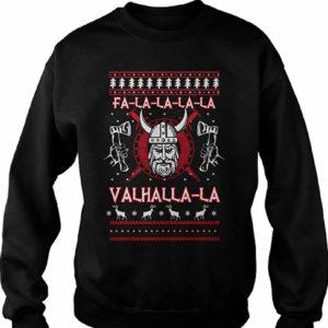 Valhalla FA La La La Christmas Jumper Black