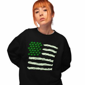 420 Spliff Flag Sweatshirt in black