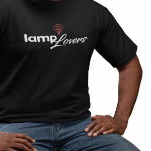 Lamp Lovers Mens T-Shirt Black