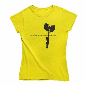 Life as a shorty Wu T-Shirt Yellow