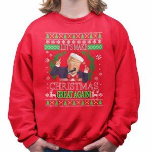 Trump Christmas Jumper Red
