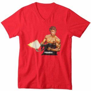 Whambo V-Neck T-Shirt Red