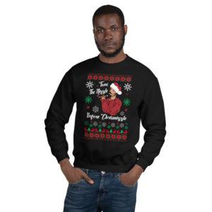snoop dogg christmas sweater black