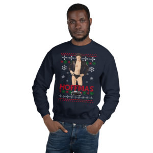 david hasselff funny ugly christmas sweater blue