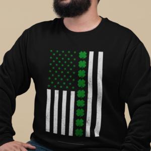 American Irish Flag St Patricks Day Sweatshirt